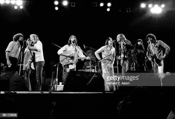 Photo of EAGLES and Linda RONSTADT and Jackson BROWNE and Dan FOGELBERG and Joe WALSH and Don HENLEY and Don FELDER and Randy MEISNER and Kenny...