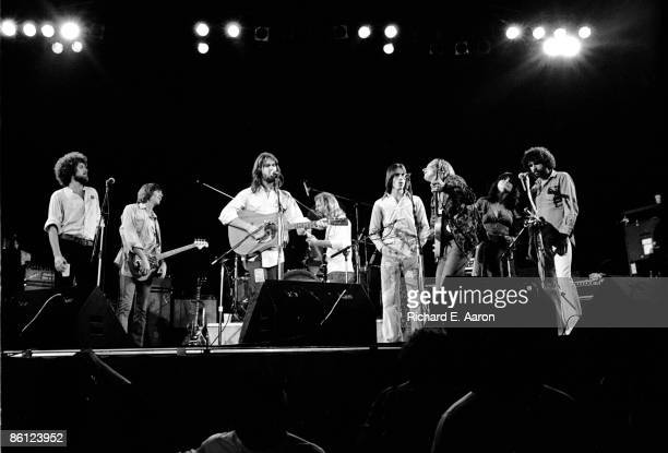 Photo of EAGLES and Linda RONSTADT and Jackson BROWNE and Joe WALSH and Randy MEISNER and Don FELDER and Don HENLEY LR Don Henley Randy Meisner Dan...