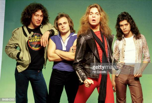 CAMDEN Photo of Eddie VAN HALEN and Michael ANTHONY and Alex VAN HALEN and VAN HALEN and David LEE ROTH LR Alex Van Halen Michael Anthony David Lee...