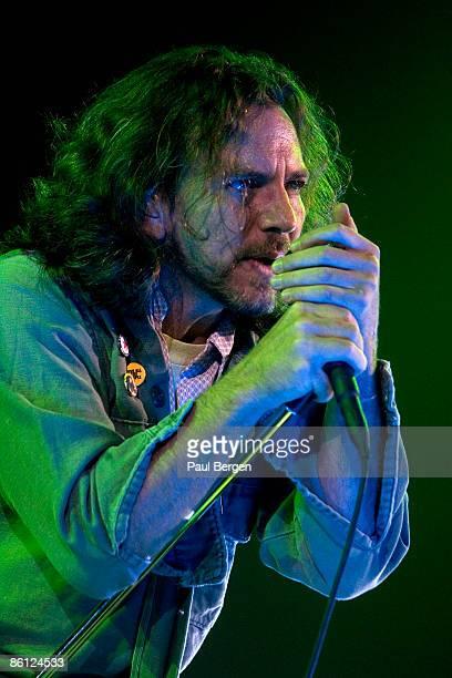 ARNHEM Photo of Eddie VEDDER and PEARL JAM Eddie Vedder performing live onstage