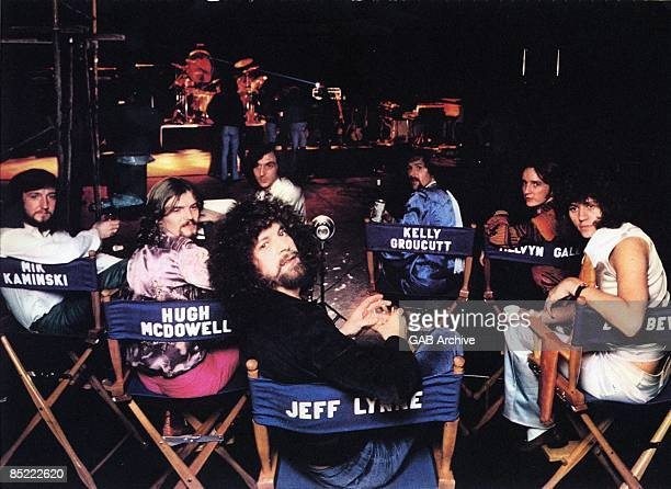 Photo of ELECTRIC LIGHT ORCHESTRA LR Mik Kaminski Hugh McDowell Jeff Lynne Kelly Groucutt Melvyn Gale Bev Bevan