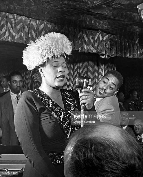 Photo of Ella FITZGERALD and Dizzy GILLESPIE and Ray BROWN with Dizzy Gillespie Ray Brown