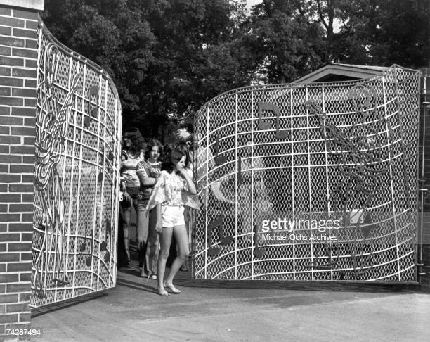 Photo of Elvis Fans 003 leaving Graceland Photo by Michael Ochs Archives/Getty Images