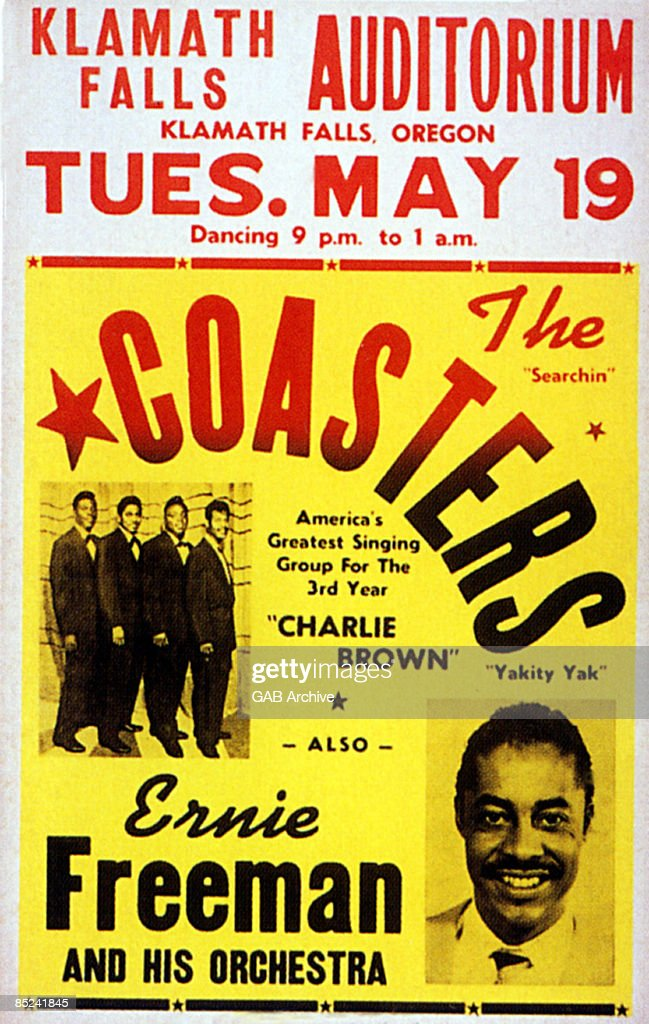 Photo of Ernie FREEMAN and CONCERT POSTERS and COASTERS Concert poster