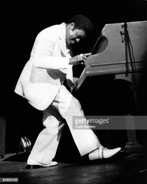Photo of Fats DOMINO Fats Domino performing on stage David Redfern Premium Collection