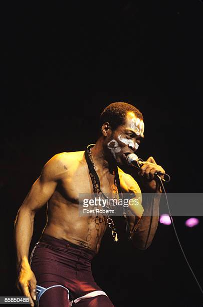 FORUM Photo of Fela KUTI and EGYPT 80 performing live onstage with Egypt 80