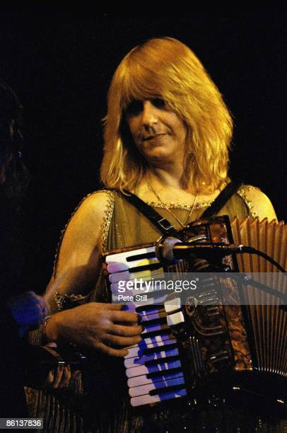 ARENA Photo of FLEETWOOD MAC Christine McVie performing live onstage playing accordian