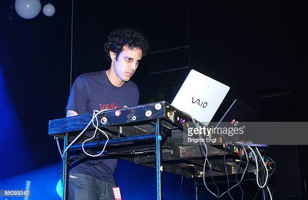 INDIGO2 Photo of FOUR TET and Kieran HEBDEN Kieran Hebden performing on stage computer
