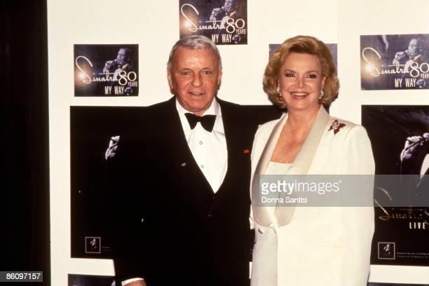 Photo of Frank SINATRA posed with Barbara Marx at Frank Sinatra Tribute