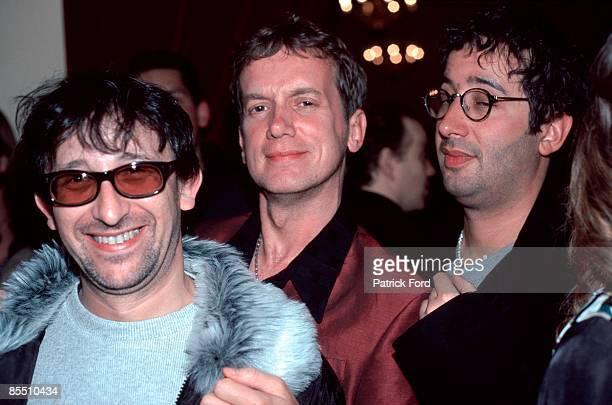 Photo of Frank SKINNER and LIGHTNING SEEDS and Ian BROUDIE and David BADDIEL Ian Broudie with Frank Skinner David Baddiel