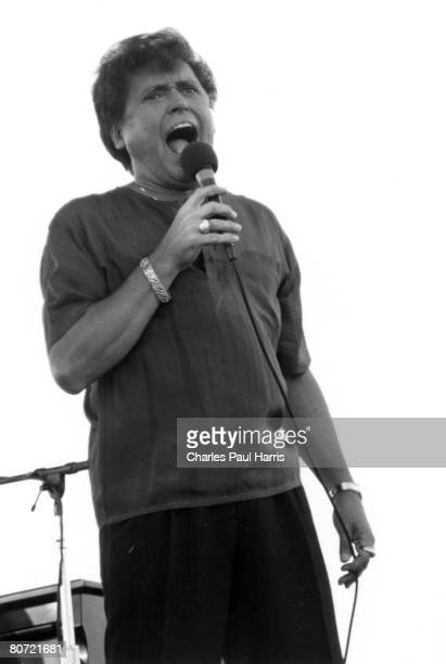 Photo of Frankie Ford at the New Orleans Jazzfest 1989