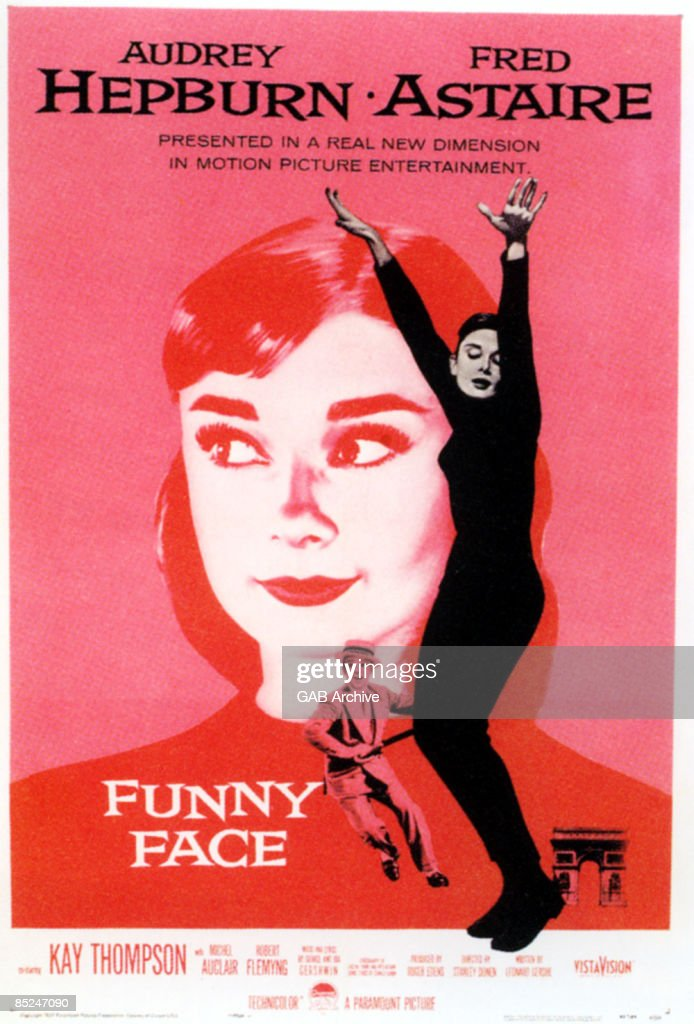 Photo of Fred ASTAIRE and Audrey HEPBURN and FILM POSTERS; Funny Face with Audrey Hepburn & Fred Astaire