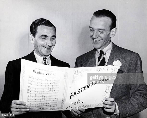 Photo of Fred ASTAIRE and Irving BERLIN w/ Fred Astaire
