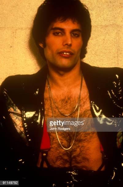 Photo of Freddie MERCURY and QUEEN Posed portrait of Freddie Mercury leather