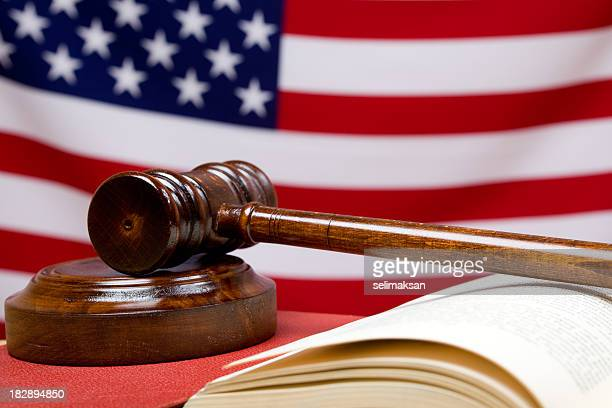 Photo Of Gavel, Book, And American Flag In The Background