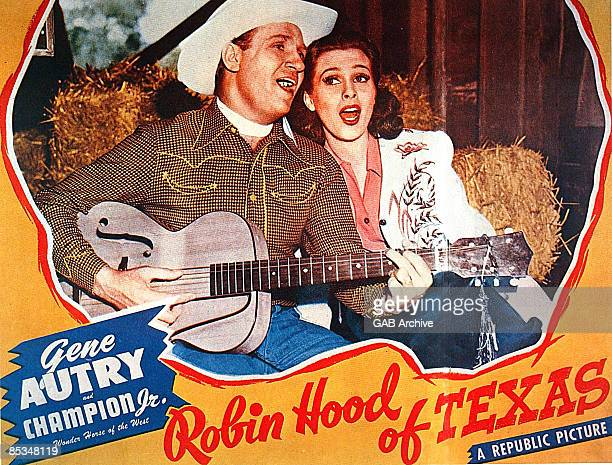 Photo of Gene AUTRY Film poster for Robin Hood Of Texas