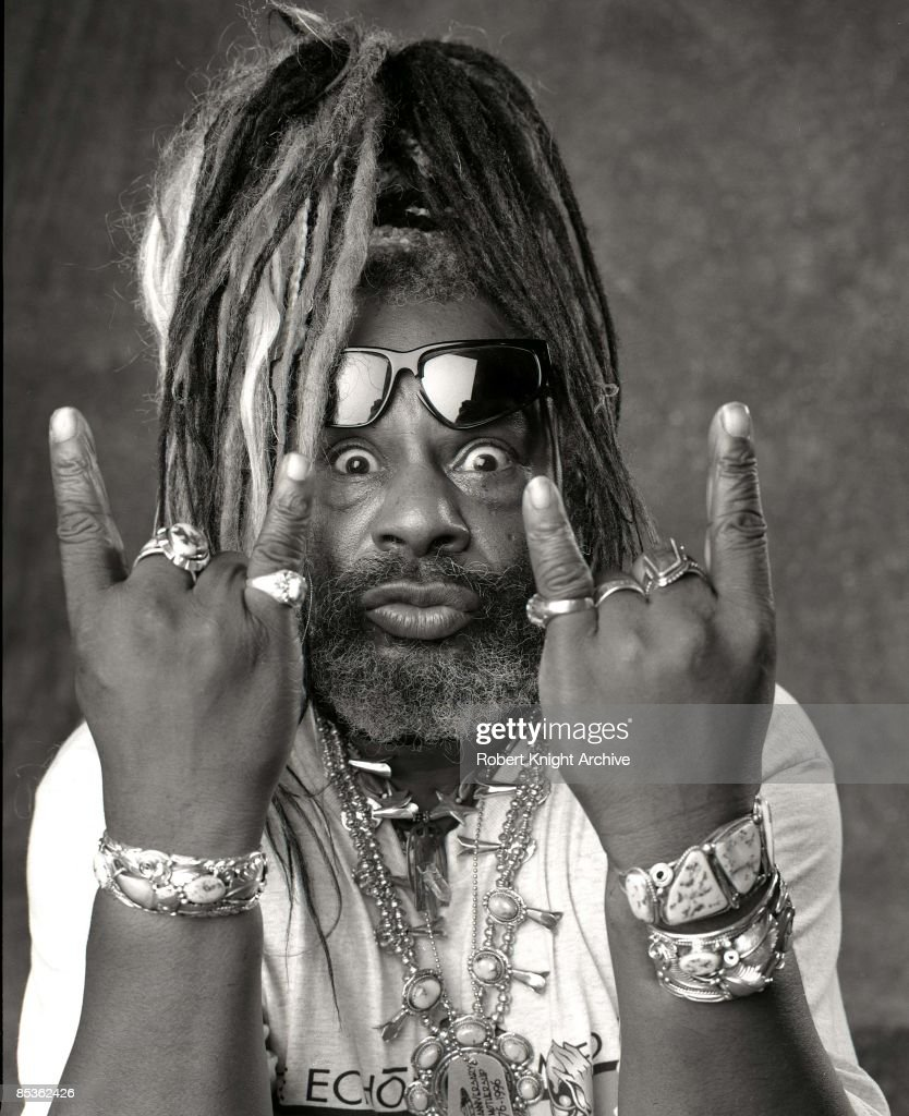 HOLLYWOOD Photo of George CLINTON, posed, studio at Rockwalk induction