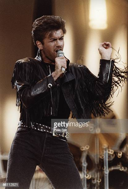 WEMBLEY Photo of George MICHAEL and WHAM George Michael at Wham Farewell concert