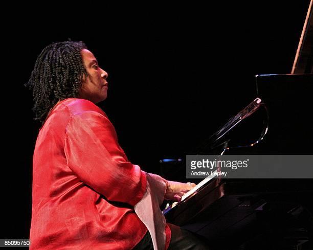 Photo of Geri ALLEN Jazz pianist Geri Allen performing on stage