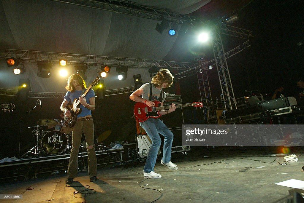 FESTIVAL Photo of Glastonbury 2003 Pic shows Kings of Leon