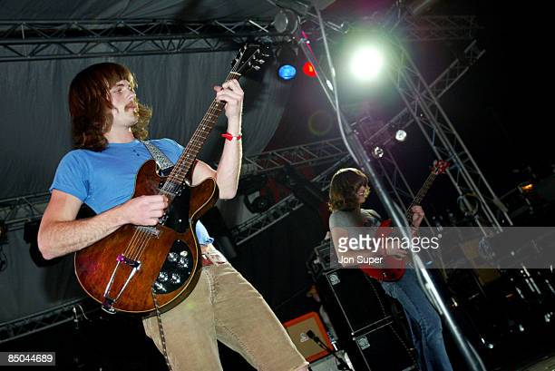 FESTIVAL Photo of Glastonbury 2003 Pic shows Kings of Leon