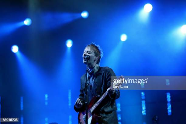 FESTIVAL Photo of Glastonbury 2003 Pic shows Radiohead Thom Yorke