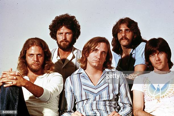 Photo of Glenn FREY and Joe WALSH and Don HENLEY and Don FELDER and EAGLES and Randy MEISNER LR Don Felder Don Henley Joe Walsh Glenn Frey Randy...