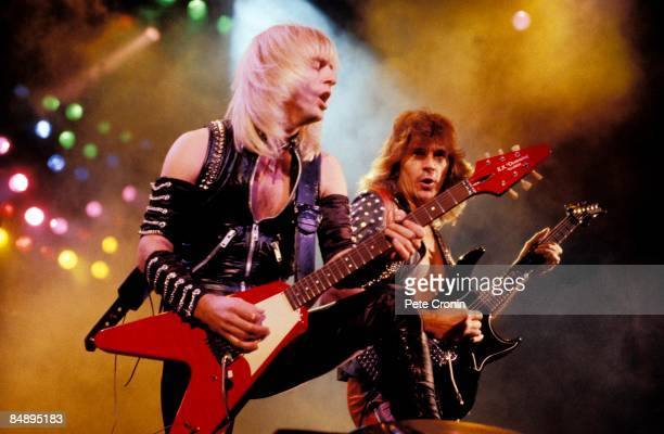 ODEON Photo of Glenn TIPTON and KK DOWNING and JUDAS PRIEST KK Downing and Glenn Tipton performing live onstage