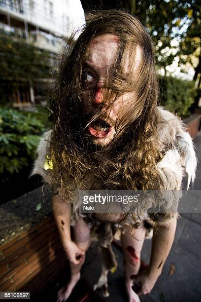 Photo of GOAT THE HEAD Posed portrait of Ketil Saether dressed as caveman