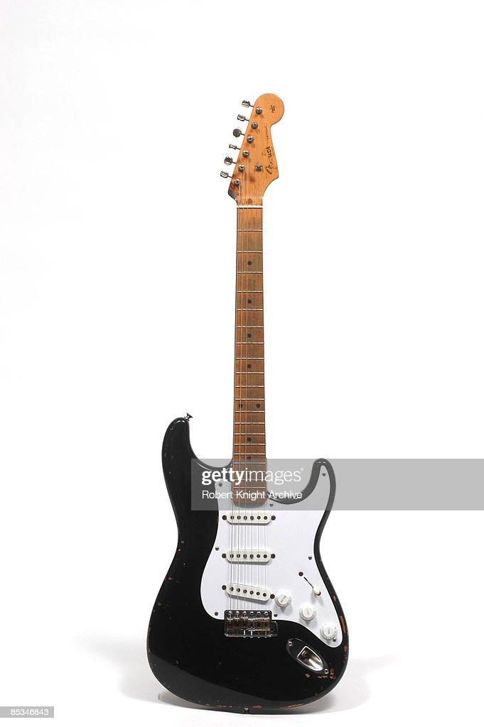 Photo of GUITAR and FENDER STRATOCASTER and Eric CLAPTON; Eric Clapton's hybrid Fender Stratocaster 'Blackie' - still life, studio