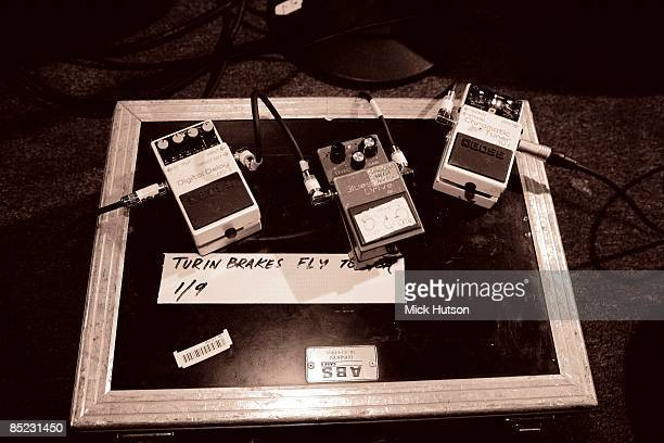 Photo of GUITAR EFFECTS PEDALS Guitar Effects pedals on stage Turin Brakes