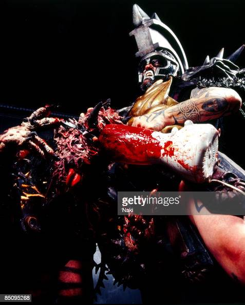 ASTORIA Photo of GWAR Posed portrait of Oderus Urungus front and Beefcake the Mighty in costume