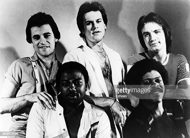 Photo of Harry Wayne CASEY and KC THE SUNSHINE BAND Posed studio group portrait of KC and the Sunshine Band with Harry Wayne Casey far left
