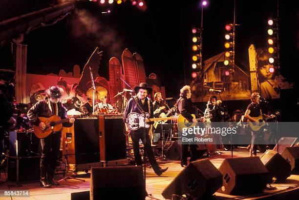 Photo of HIGHWAYMEN L to R Willie Nelson Waylon Jennings Johnny Cash Kris Kristofferson