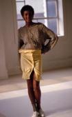 Photo of Houston Whitney Whitney Houston early modeling shoot for Mademoiselle magazine Dec83