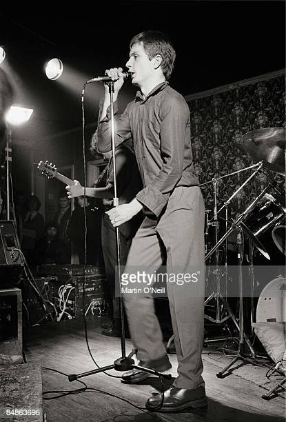 Photo of Ian CURTIS and JOY DIVISION Ian Curtis performing live onstage at Bowdon Vale Youth Club