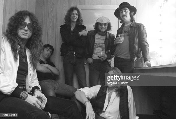 Photo of Ian PAICE and Neil MURRAY and WHITESNAKE and Bernie MARSDEN and Jon LORD and Micky MOODY and David COVERDALE LR David Coverdale Bernie...