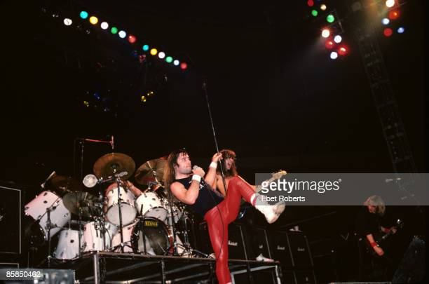 GARDEN Photo of IRON MAIDEN and Bruce DICKINSON and Steve HARRIS and Adrian SMITH Bruce Dickinson Steve Harris and Adrian Smith performing live...