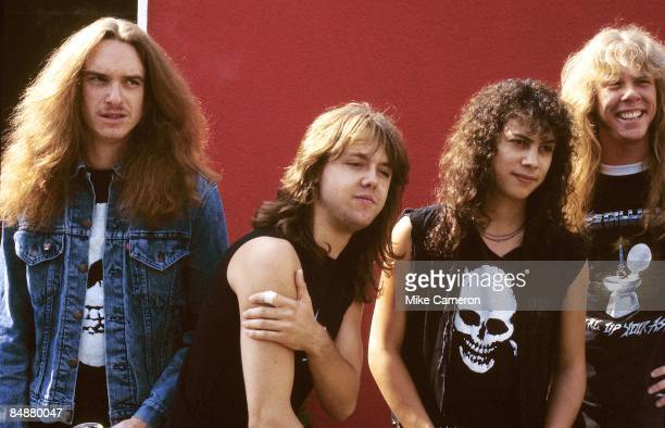 ROCK Photo of James HETFIELD and METALLICA and Cliff BURTON and Lars ULRICH and Kirk HAMMETT LR Cliff Burton Lars Ulrich Kirk Hammett James Hetfield...