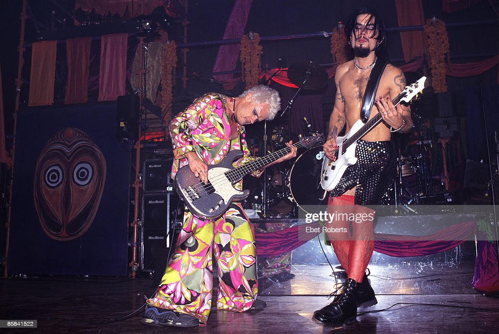 BALLROOM Photo of JANE'S ADDICTION and FLEA and Dave NAVARRO Flea and Dave Navarro performing on stage