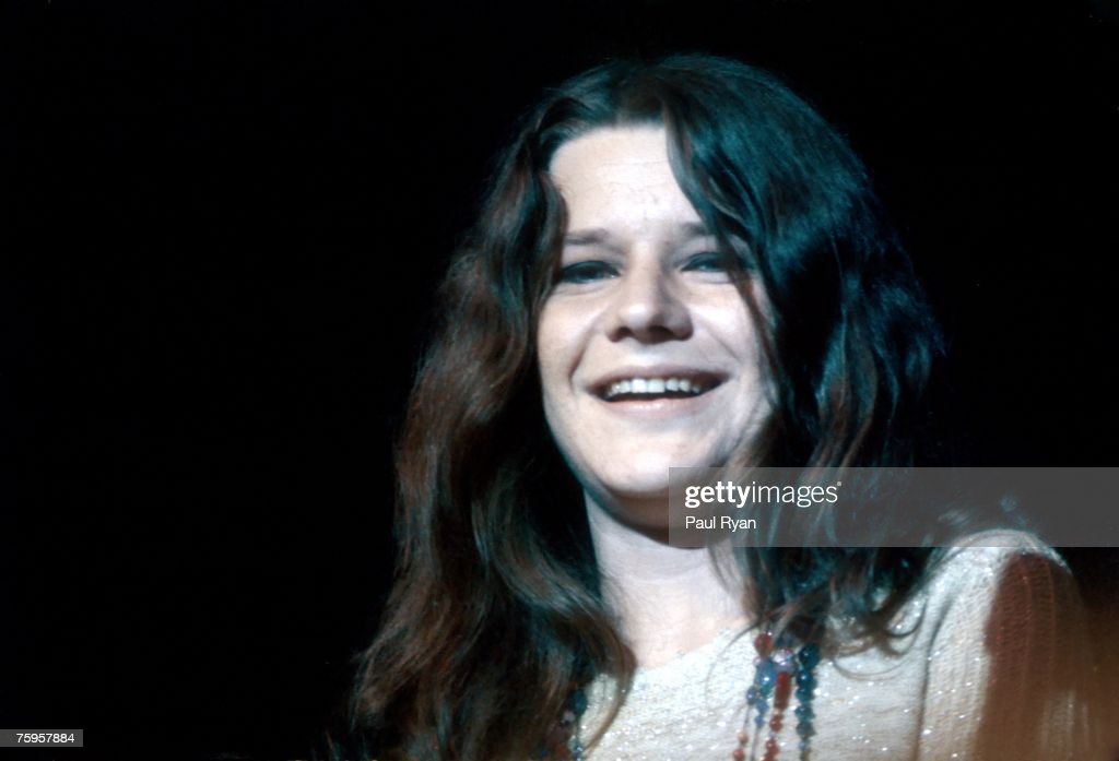 Photo of Janis Joplin at the Monterey Pop Festival