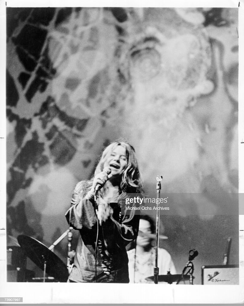 Photo of Janis Joplin, with Big Brother & Holding Co. circa 1968.