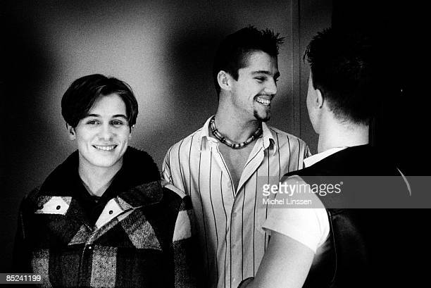 Photo of Jason ORANGE and TAKE THAT and Mark OWEN and Gary BARLOW LR Mark Owen Jason Orange Gary Barlow