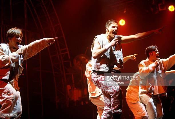 ARENA Photo of Jason ORANGE and TAKE THAT and Mark OWEN and Robbie WILLIAMS LR Mark Owen Jason Orange Robbie Williams