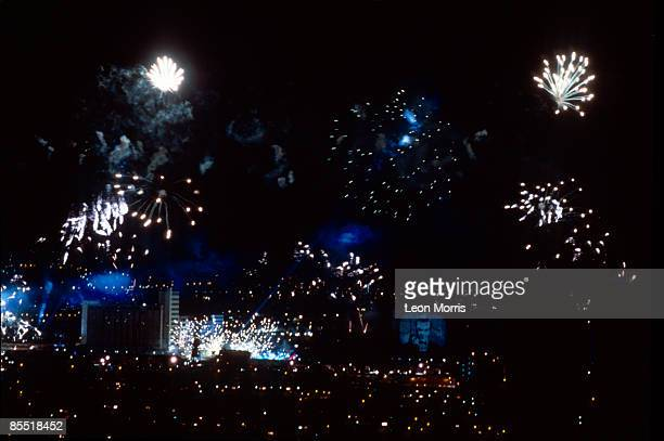 Photo of Jean Michel JARRE Jean Michel Jarre fireworks Destination Docklands show