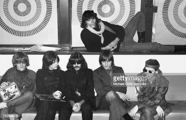 Photo of Jefferson Airplane New York New York City Hunter College Jefferson Airplane LR seated Paul Kantner Grace Slick Spencer Dryden Marty Balin...