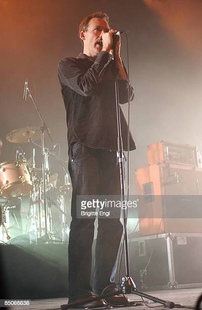 HALL Photo of Jim REID and JESUS MARY CHAIN Jim Reid performing on stage