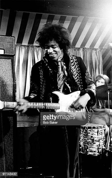 MARQUEE Photo of Jimi HENDRIX Jimi Hendrix Experience performing live onstage filming German TV Show 'Beat Club'