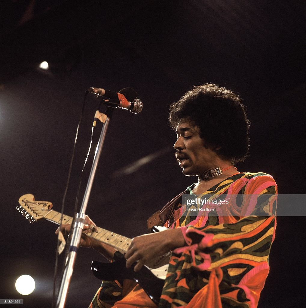 FESTIVAL Photo of Jimi HENDRIX, performing live onstage