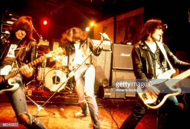 S Photo of Joey RAMONE and RAMONES and Johnny RAMONE and Dee Dee RAMONE LR Johnny Ramone Joey Ramone Dee Dee Ramone